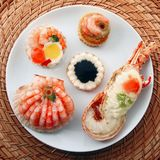 Delicious fresh specialties of shellfish. A delicious fresh specialties of shellfish Royalty Free Stock Images