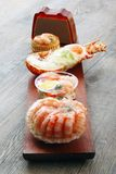 Delicious fresh specialties of shellfish. A delicious fresh specialties of shellfish stock images