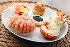 Delicious fresh specialties of shellfish. A delicious fresh specialties of shellfish Royalty Free Stock Image