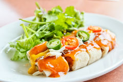 Delicious fresh Spring rolls Royalty Free Stock Photo