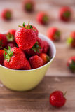 Delicious fresh strawberries in a bowl Stock Photography