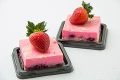 Delicious fresh strawberry cheese cake Royalty Free Stock Photos