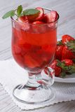 Delicious fresh strawberry cocktail with mint Stock Image