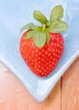 Delicious fresh strawberry  fruit  closeup Stock Photos