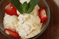 Delicious fresh strawberry ice cream Royalty Free Stock Photos