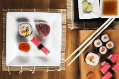 Delicious fresh sushi Royalty Free Stock Photos