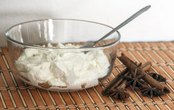 Delicious fresh  and tasty cottage cheese Stock Photography