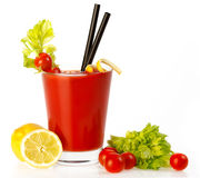 Delicious Fresh Tomato Cocktail Stock Images