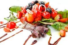 Delicious fresh tomatoe salad Stock Photo