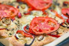 Delicious fresh traditional Italian focaccia bread Stock Images