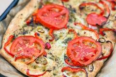Delicious fresh traditional Italian focaccia bread Stock Photos