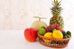 Fresh fruits. Delicious and fresh variety fruits royalty free stock image