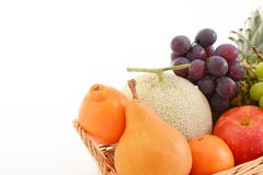 Fresh fruits. Delicious and fresh variety fruits stock photo