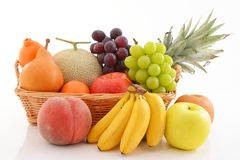 Fresh fruits. Delicious and fresh variety fruits royalty free stock photo