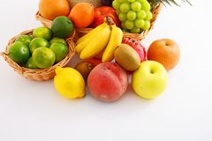 Fresh fruits. Delicious and fresh variety fruits royalty free stock images