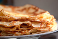 Delicious freshly baked pancakes Royalty Free Stock Photography