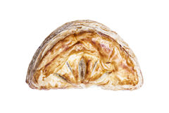 Delicious freshly baked pie, isolated with clipping paths on white background. Stock Photo