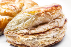 Delicious freshly baked pies on white background. Royalty Free Stock Images