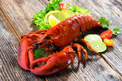 A delicious freshly boiled lobster Stock Images