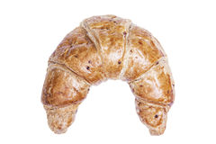 Delicious freshly croissant, isolated with clipping paths on white background. Royalty Free Stock Photography