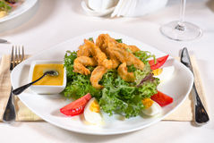 Delicious fried calamari appetizer Royalty Free Stock Photos