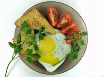 delicious fried eggs Stock Image