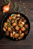 Delicious fried mushrooms Stock Photo