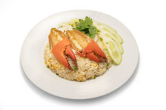 Delicious fried rice with crab Royalty Free Stock Photos