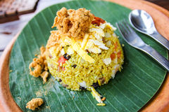 Delicious fried rice. In Thailand royalty free stock photo