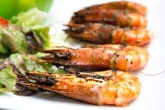 Delicious fried shrimp Stock Photos