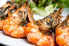 Delicious fried shrimp Stock Photo