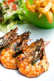 Delicious fried shrimp Royalty Free Stock Images