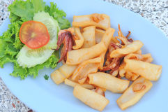 Delicious fried squid. Of thaifood Royalty Free Stock Photo