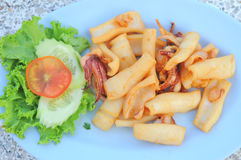 Delicious fried squid Royalty Free Stock Photos