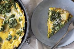 Slice of Fresh Fritatta Stock Photo