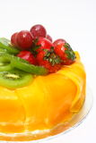 Delicious Fruit Cake. Delicious cake with an array of fruit Royalty Free Stock Photos