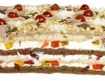 Delicious fruit cake Royalty Free Stock Images