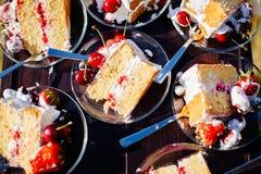 Delicious fruit cake sliced Royalty Free Stock Photo