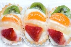 Delicious fruit cakes Royalty Free Stock Photo