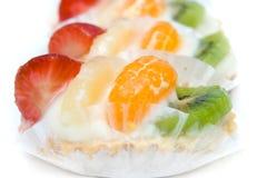 Delicious fruit cakes Stock Photo