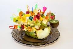 Delicious fruit hedgehog Stock Image