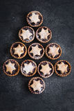 Delicious fruit mince tarts for Christmas Royalty Free Stock Images