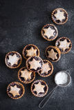 Delicious fruit mince tarts for Christmas Stock Photo