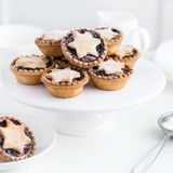 Delicious fruit mince tarts for Christmas dinner Stock Photos