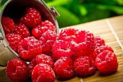 Delicious fruit raspberries Stock Photo
