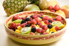 Delicious fruit salad Stock Images