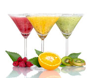 Delicious Fruit Smoothies And Fruit Stock Photo