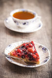 Delicious fruit tart dessert Royalty Free Stock Photography