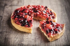 Delicious fruit tart dessert royalty free stock photo