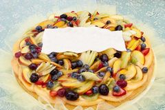 Delicious fruit tart mixed with jelly. Royalty Free Stock Photos